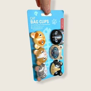Cute Kitty Cat Kitchen Chip Bag Clips! NEW!